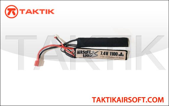 Airsoft Logic 7.4V 1100mAh Nunchuck Lipo