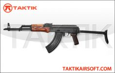GHK GK AK-47 AKMS GBBR Metal Wood Black