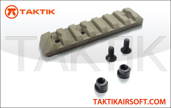 PTS Enhanced Rail Section Keymod 7 Slots Polymer tan