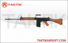 Ares L1A1 SLR FAL Semi Auto Rifle AEG Metal Wood