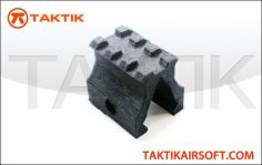 Taktikal 30mm riser open sight plastic black